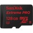 SanDisk 128GB Extreme Pro microSDXC Card - U3, Class 10 - with microSD to USB 3.0 Adaptor 275MB/s, 100MB/s Write
