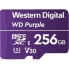 Western Digital WDD256G1P0A Purple MicroSD Card - 256GB  Up to 100MB/s Read, Up to 60MB/s Write