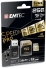 Emtec 256GB MicroSDXC with SD and USB Adapter - Gold